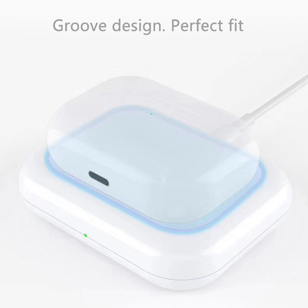 Cyoo - Wireless Charge Pad - Apple Airpods 1,2, Airpods Pro - White
