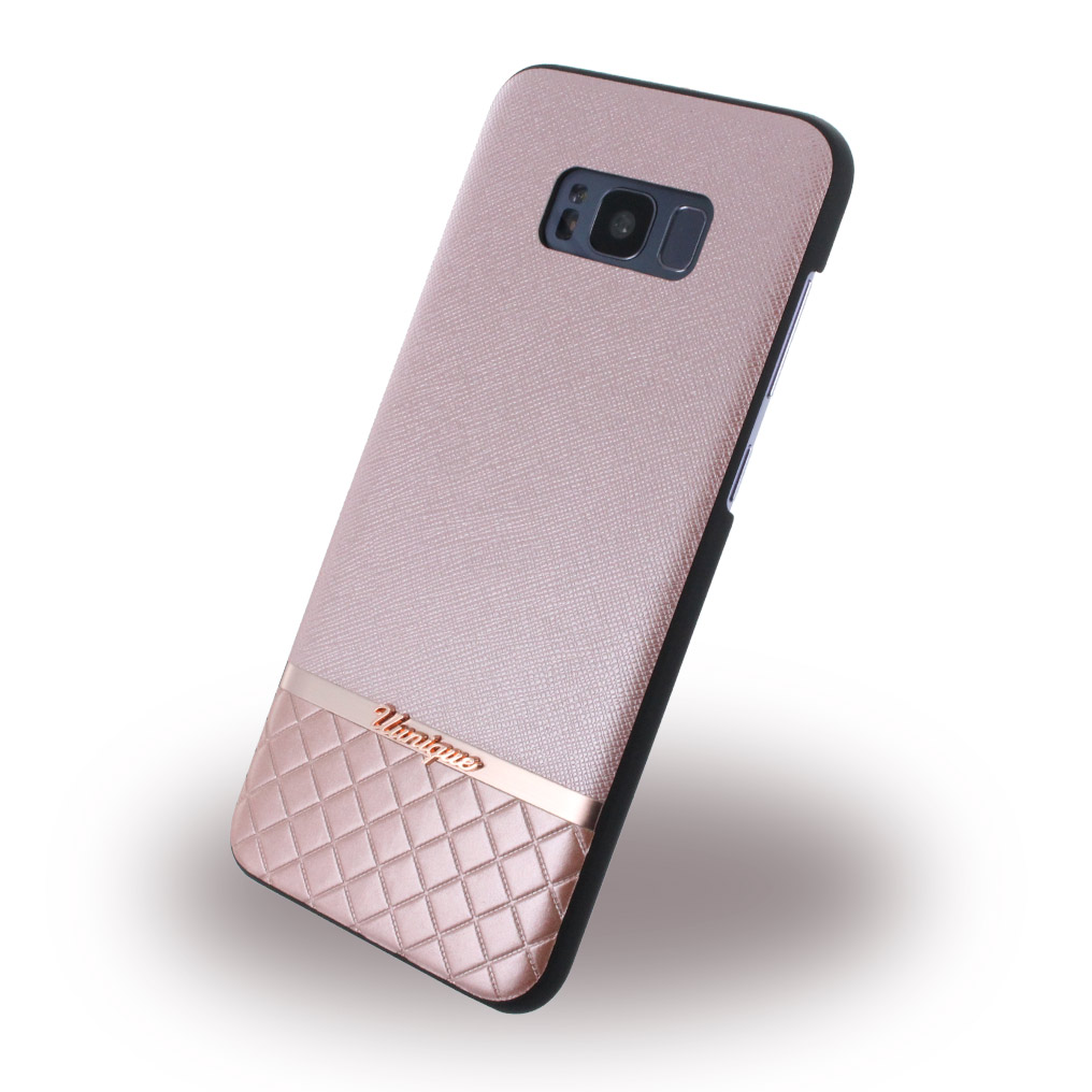 Uunique - Metallic Saffiano UUS8PSLSHS04 - Hardcover - Samsung G955 Galaxy S8 Plus - Rose Gold