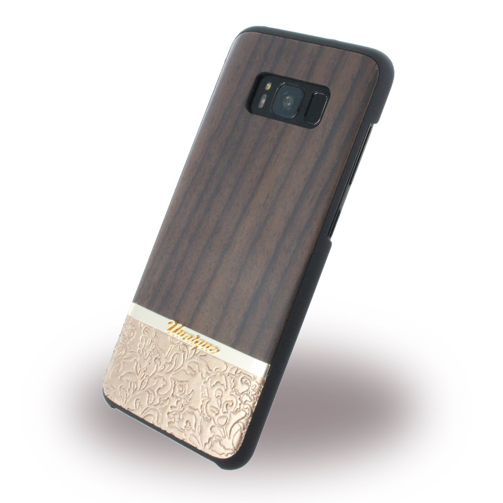 Uunique - Rosewood & Gold Embossed UUS8SLSHS05 - Hardcover - Samsung G950 Galaxy S8 - Brown