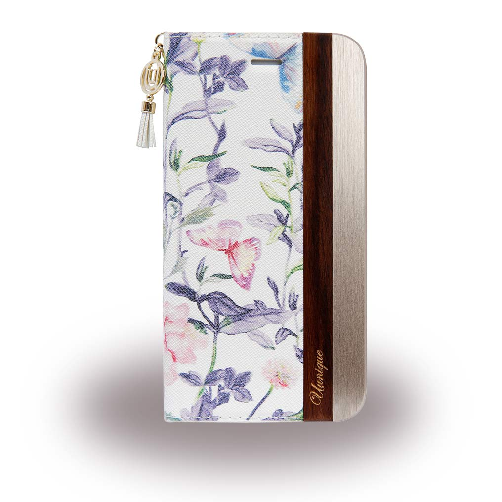 Uunique - Spring Flower UUFFIP7HSF06 - Book Cover - Apple iPhone 7 - White / Gold