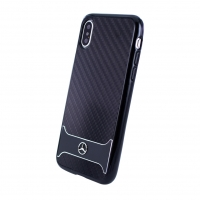Mercedes Benz - Carbon Aluminium - Apple iPhone X Cover Case Handyhülle Schutzhülle