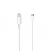 Apple - MQGJ2ZM/A Lightning to USB-C Cable - 1m - Apple iPhone 11, 11 Pro, 11 Pro Max - White