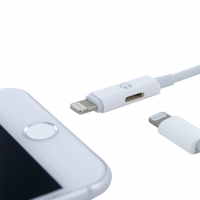 Cyoo - 2in1 - Lightning Cable for iPhone Audio Output & Charging Function