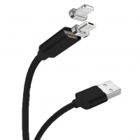 Cyoo - Magnet Charging Cable / Data Cable - 2in1 - Micro USB & Lightning to USB - 1m