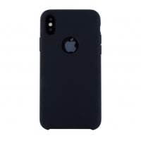 Cyoo - Iphone 6.5 XS Max - Premium Liquid Schwarz Silikon Hard Case Cover Hülle Handyhülle