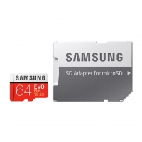 Samsung - EVO Plus microSD Card + SD Adapter - 64GB