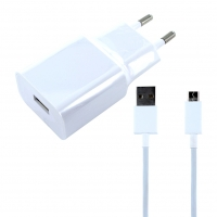 Original Xiaomi - MDY-08-EO - USB Charger + Charging Cable USB to Micro USB - White