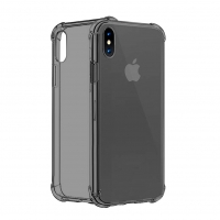 Cyoo - Shockproof Fallschutz Four Coners - Apple iPhone XS Max - Transparent Schwarz Case Cover Schutzhülle Handyhülle Outdoor