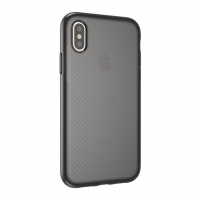 Cyoo - Dot Back Shockproof - Apple iPhone XS Max - Transparent Schwarz Case Cover Schutzhülle Handyhülle Outdoor