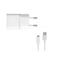 Samsung - EP-TA50EWE - USB Adapter + ECB-DU4AWE - Micro USB Cable