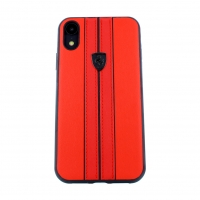 Ferrari - Off Track - Apple iPhone XS Max -  Echt Leder Hard Case Hülle Cover