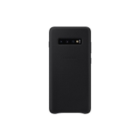 Samsung - Leather  Case - Samsung  Galaxy S10 - Black -  Case