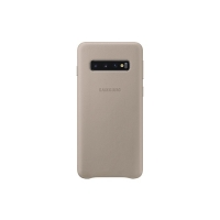 Samsung - Leather  Case - Samsung  Galaxy S10e - Grey -  Case