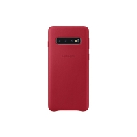 Samsung - Leather  Case - Samsung  Galaxy S10e - Red -  Case