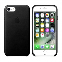 Apple - MMY52FE/A Leather Cover - Apple iPhone 7/8 - Black