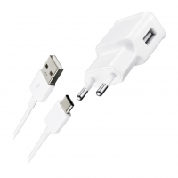 Samsung EP-TA12 - USB Charger + Data Cable USB to Typ-C - White