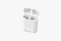 Cyoo -  Charge Case - Apple Airpods - - with cable or Wireless - white