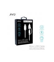 Jivo - 2in1 Charging + Data Cable - USB to  Micro USB and  USB Lightning