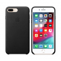 Apple - MMYJ2ZM/A - Leather Cover -  iPhone 7 Plus/8 Plus- Black