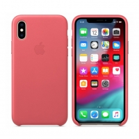 Apple - MQTJ2ZM/A Leather Cover - Apple iPhone X/Xs - Pink