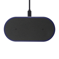 Cyoo - Premium Dual-Phone Wireless  Pad Charger - Black