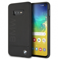 BMW - Logo Imprint - Leather Hard Cover - Samsung Galaxy S10