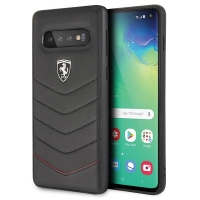 Ferrari - Heritage Quilted - Leather Hard Cover - Samsung Galaxy S10+
