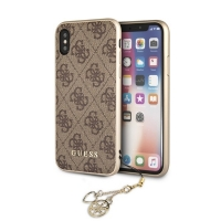 Guess - Charms - Hardcover 4G - Apple iPhone X/Xs - Brown