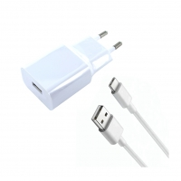 Xiaomi - MDY-08-EO - USB Charger + Charging Cable USB to Typ-C - White