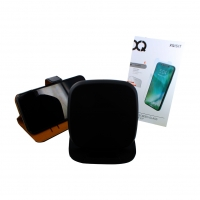 XQISIT - Premium Pack -  iPhone Xr  -  Book Case + Tempered Glas + Wireless Pad