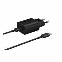 Samsung - EP-TA800 - Quick Charger + CABLE  - USB Typ C- 25W - Black
