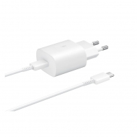 Samsung - EP-TA800 - Quick Charger + CABLE  - USB Typ C- 25W - White