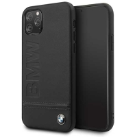 BMW - Logo Imprint - Leather Hard Cover - Apple IPhone 11 Pro - Black