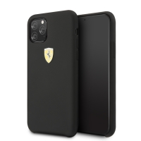 Ferrari - On Track - SF - Silicon Case W Logo Shield - Apple iPhone 11 Pro - Black