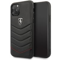Ferrari - Heritage Quilted - Leather Hard Cover - Apple iPhone 11 Pro