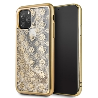 Guess - 4G Peony Liquid Glitter Case  - Apple iPhone 11 Pro Max  -  Gold