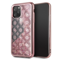 Guess - 4G Peony Liquid Glitter Case  - Apple iPhone 11 -  Pink