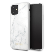 Guess - Marble Collection - Apple iPhone 11 - White - Cover