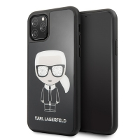 Karl Lagerfeld - Iconic Double Layer Glass Case - Apple Iphone 11 Pro Max - Black