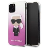 Karl Lagerfeld - Iconic Gradient Case - Apple iPhone 11 - Pink