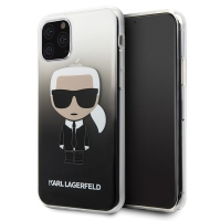 Karl Lagerfeld - Iconic Gradient Case - Apple iPhone 11 - Black