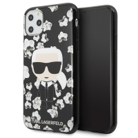 Karl Lagerfeld - Flower  Case - Apple iPhone 11 - Black