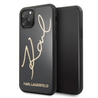 Karl Lagerfeld - Double Layer HC Karl Signature Case - Apple iPhone 11 Pro Max - Black