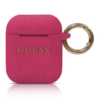 Guess - Silicon Cover Ring -  Airpods - Magenta