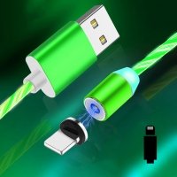 Cyoo - Flow Light Magnetic-  Lightning Cable 1m - Green