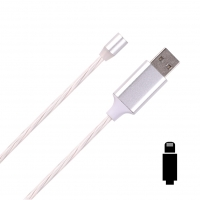 Cyoo - Flow Light Magnetic-  Lightning Cable 1m - White