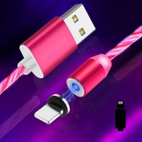 Cyoo - Flow Light Magnetic-  Lightning Cable 1m - Pink