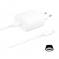Samsung - EP-TA845 - quick charger + Type-C to Type-C cable - 45W - white