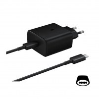 Samsung - EP-TA845 - quick charger + Type-C to Type-C cable - 45W - black
