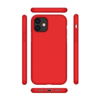 Cyoo - Premium  Liquid Silicon -  Apple iPhone 12 Pro (6.1 Zoll)  - red - Hard Case